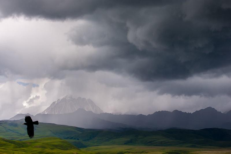 A storm approaching, Lhagang (Tagong), Kham (Sichuan)