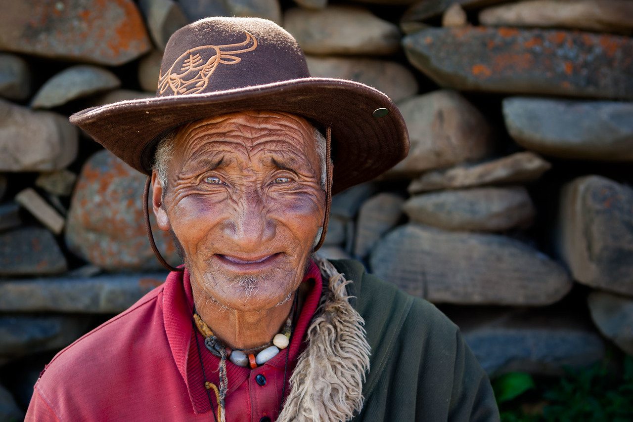 Man outside the Manigango Monastery, Kham (Sichuan)
