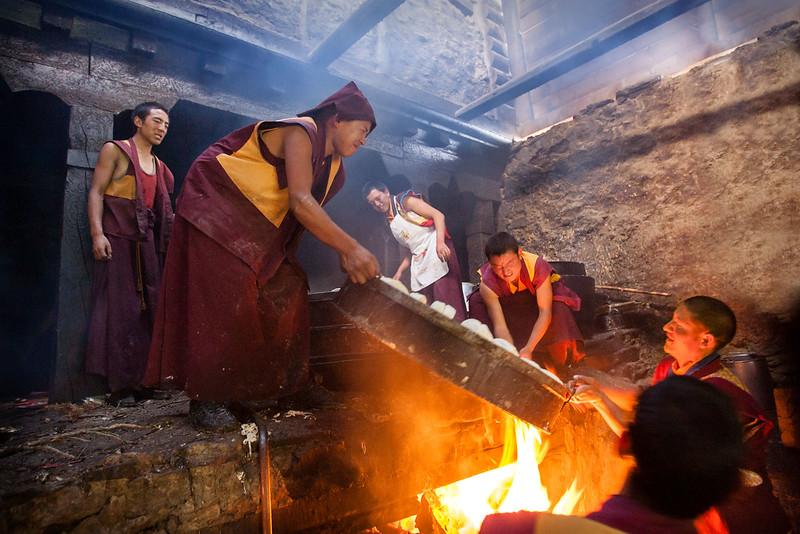 Monastery kitchen, Kathok Dorje Den Monastery, Kham (Sichuan)