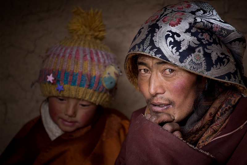 Father and daughter, Ninlong Gompa