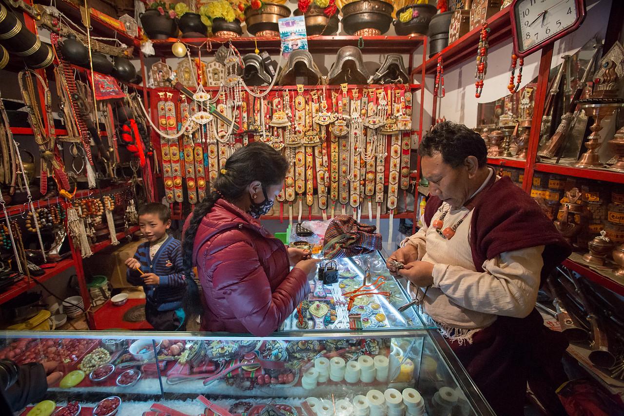 Shop, Bakong sutra printing lamasery - Dege (Derge).