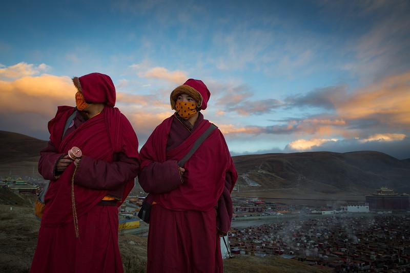 Nuns, Yarchen Monastery