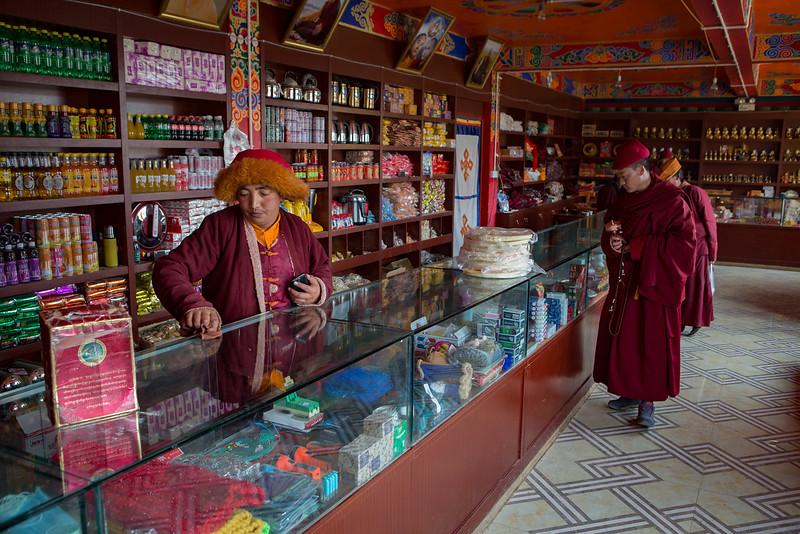 Shop, Yarchen Monastery