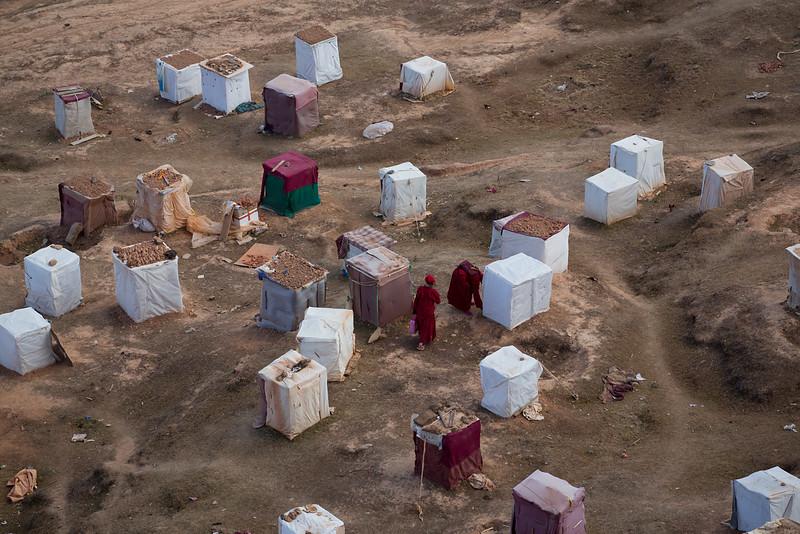 Nuns meditation huts, Yarchen Monastery