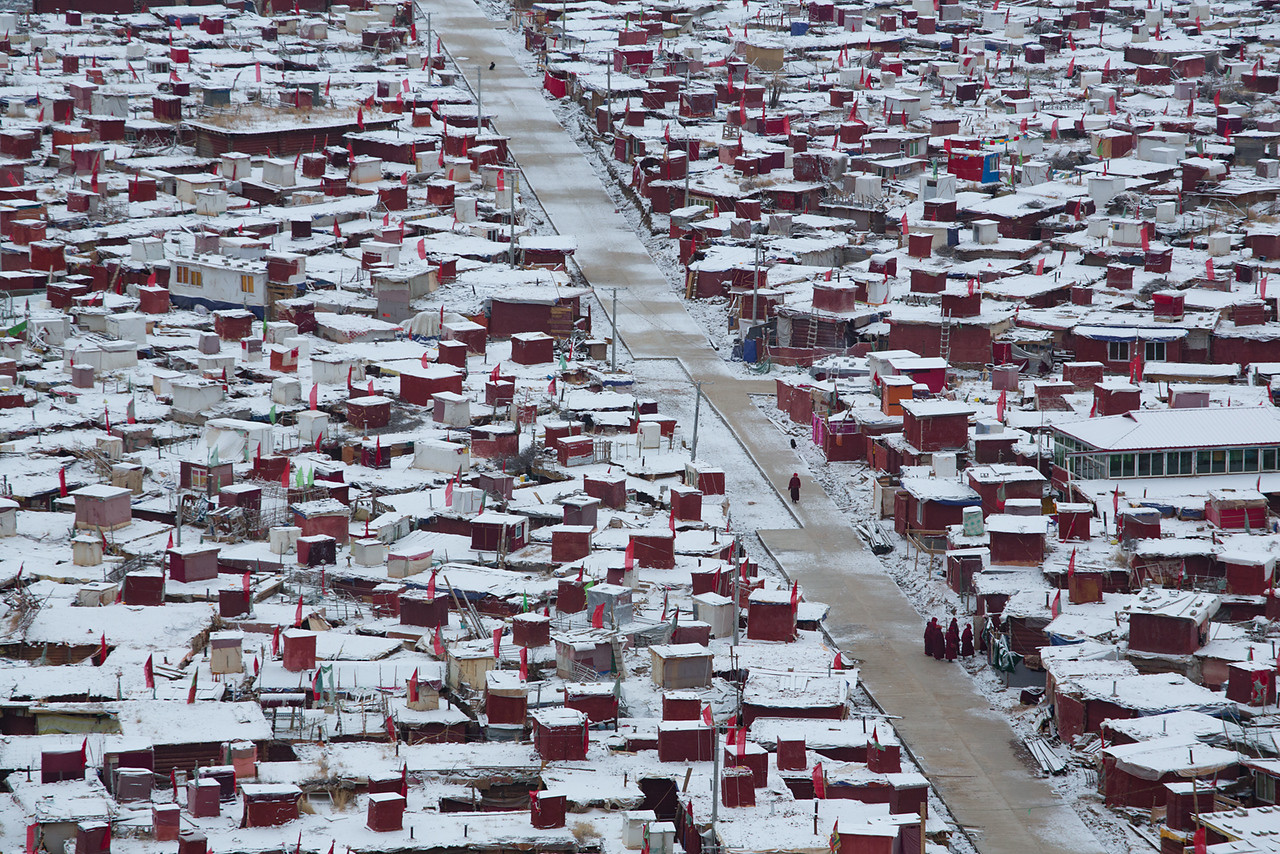 Nuns quarters, Yarchen Monastery
