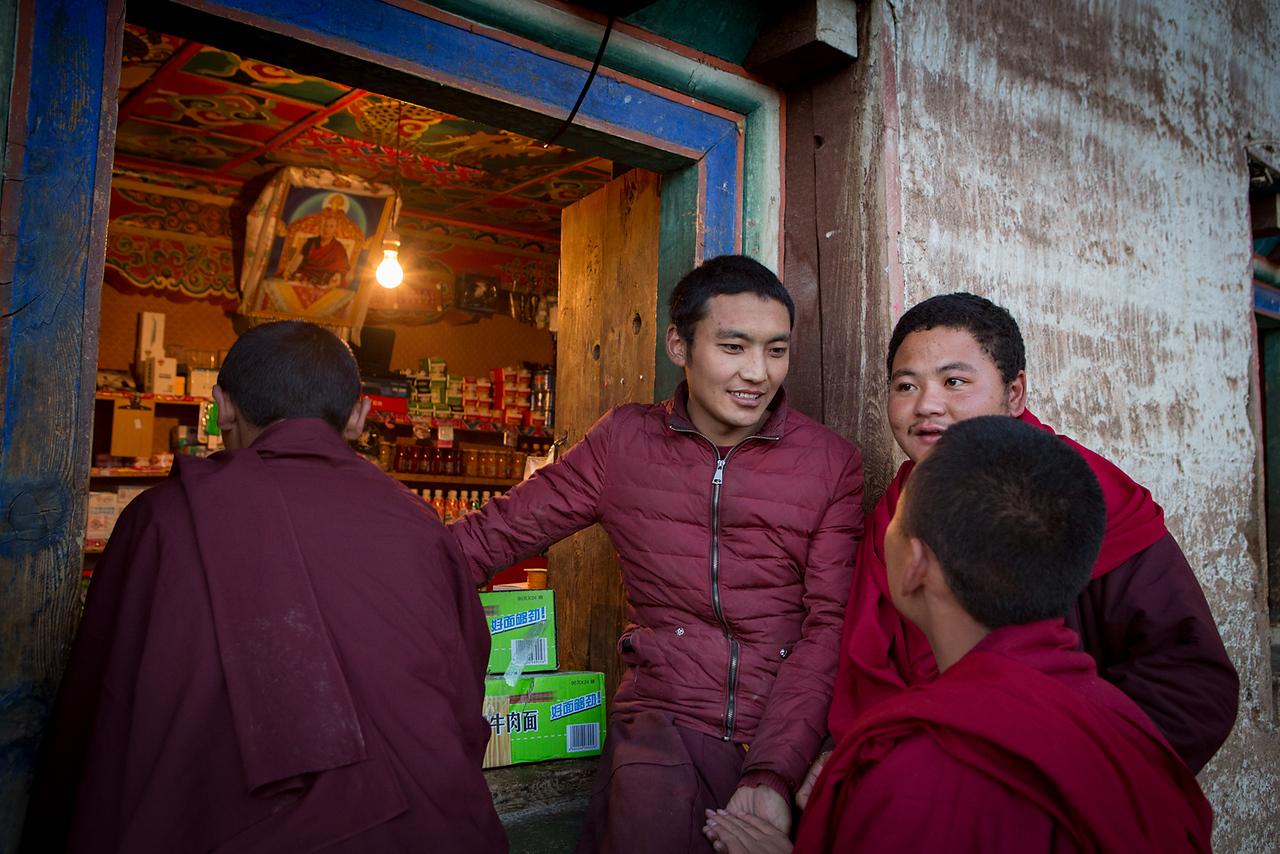 Monastery shop, Pelpung Tubden Chokhorling Monastery