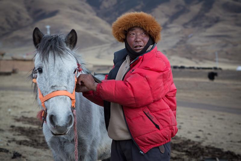 Nomad family, near the Dzogchen monastery