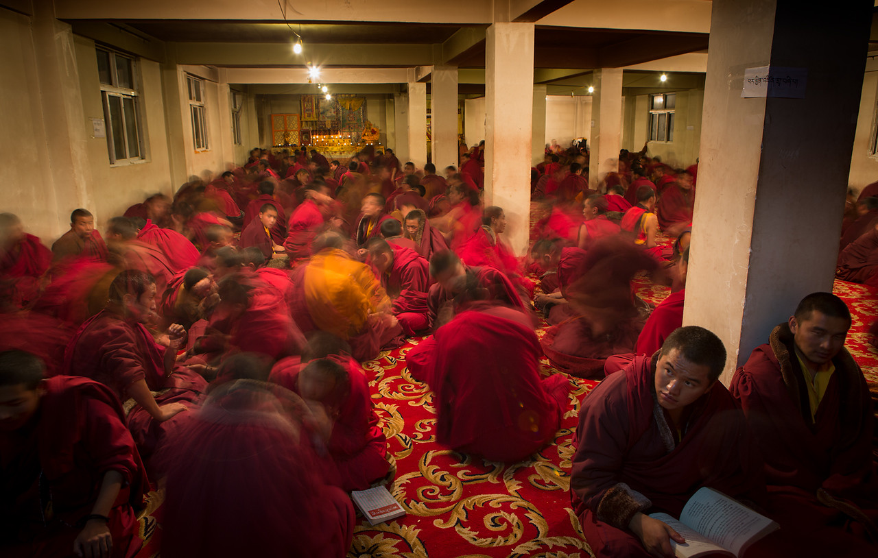 Debating monks, Pelpung Tubden Chokhorling Monastery