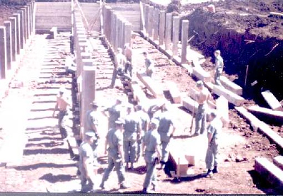 The Alamo Hilton being built 1967 the best bunker in all of Khe Sanh. Save a lot of us from incomming during the Siege TET offensive 1968. 77 days of hell on a base 1/2 mile wide and a mile long.
