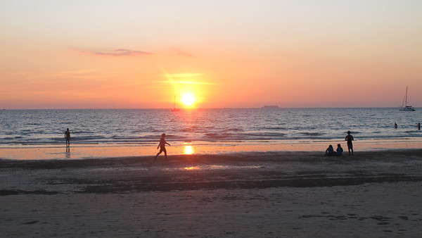 A typical stunning sunset on Klong Dao Beach Koh Lanta