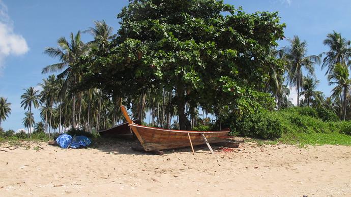 Fishing boat on Khlong Khong Beach, Koh Lanta
