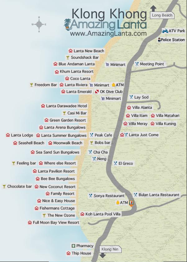 Klong Khong Map Koh Lanta