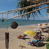 A beautiful sun, sea and sand view from one of the beach bars on Khlong Nin beach, Koh Lanta