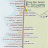 Klong Nin Beach Map with Klong Nin Pool Villa location highlighted