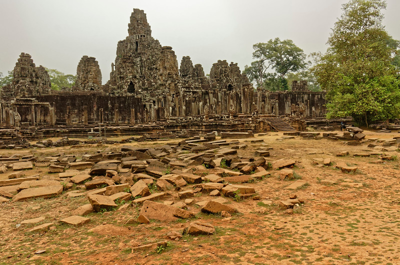 View of the Bayon temple grounds from the southeast