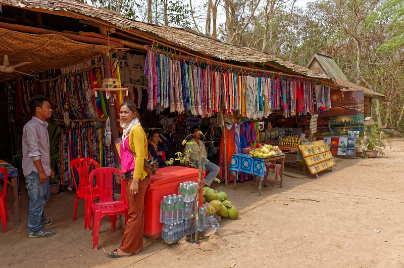 On the outskirts of Ta Prohm temple, more souvenir items and things to eat or drink for the tourists