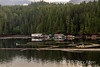 Log booms and oceanside camp, Seal Cove, Prince Rupert, British Columbia