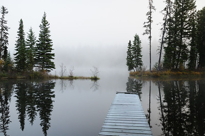 Canoe Launch into the mist