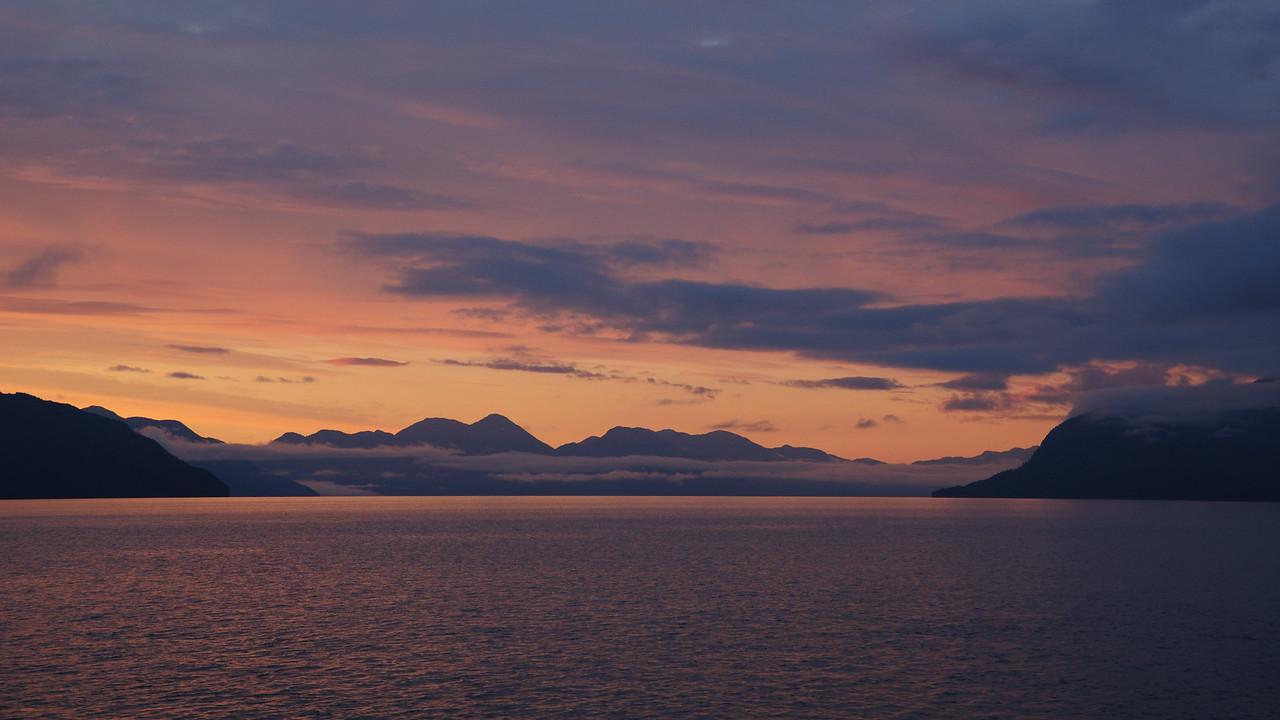 Sunrise over Gribbell Island