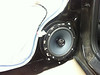 """Aftermarket speaker mounted and speaker adapter  from  <a href=""""http://www.car-speaker-adapters.com/items.php?id=SAK081""""> Car-Speaker-Adapters.com</a>   installed on door."""