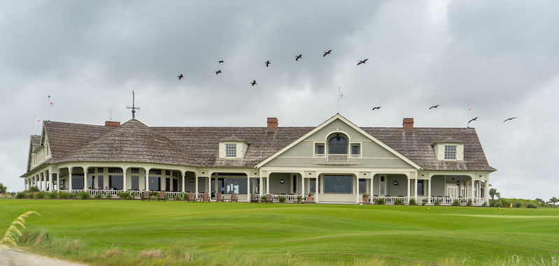 Ocean Course Clubhouse with Pelicans