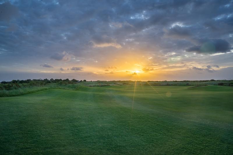 Cloudy Sunrise on the Ocean Course