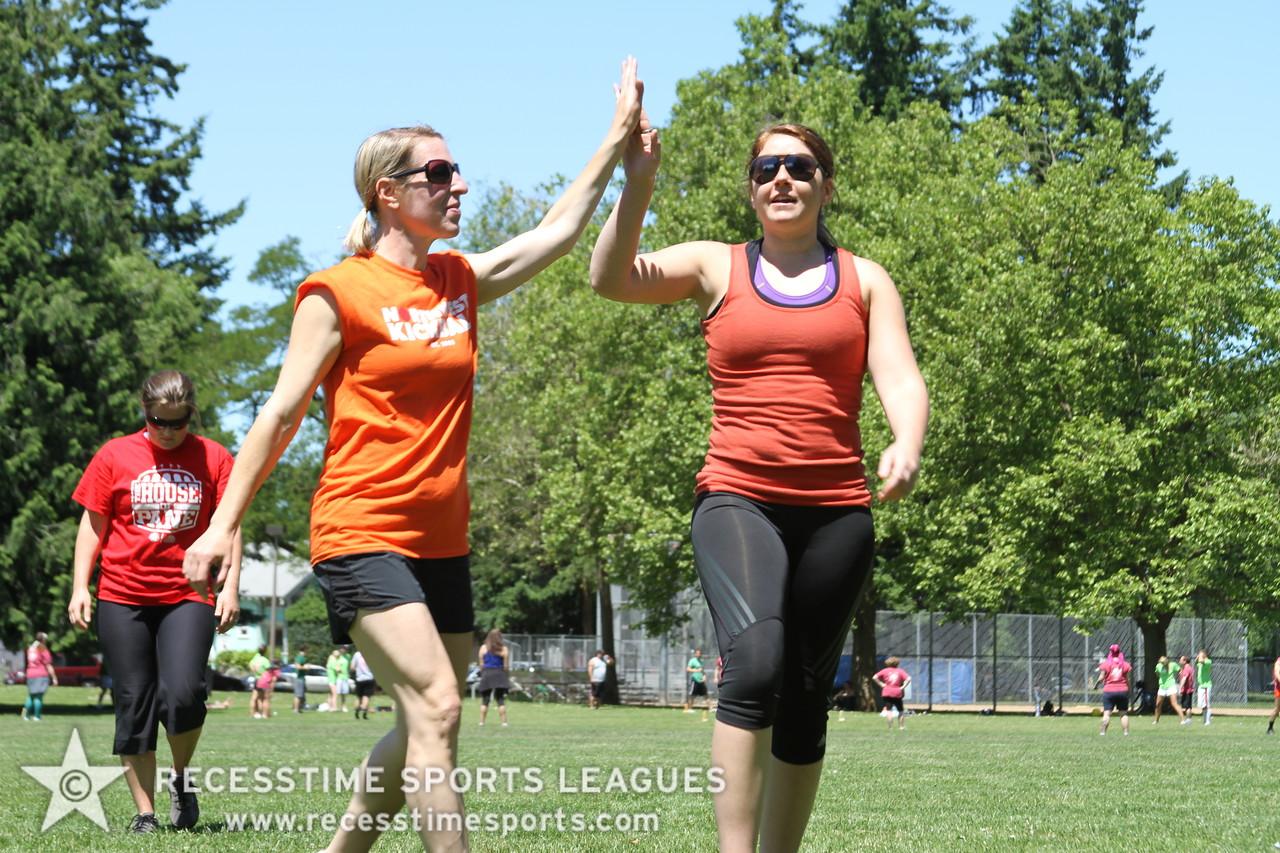 Recesstime Portland Kickball High Fives