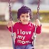 I love my Mom! An adorable kid.