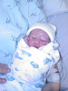 Very first cell phone picture of baby Wes.