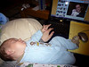 """Can you say """"Multi-tasking""""?  Uploading pictures while Wes sleeps."""