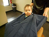 Wes' first hair cut at Daddy's Barber Shop.