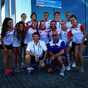 Harrison and team in Kazan, Russia at World University Games