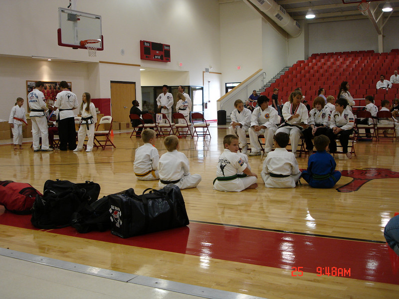John's group, getting ready for sparring.