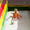 Cody Giannoni, 5, slides during Kid's Day in downtown Leominster on Saturday afternoon. SENTINEL & ENTERPRISE / Ashley Green