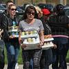 Old Navy Community Volunteers bring in donations.