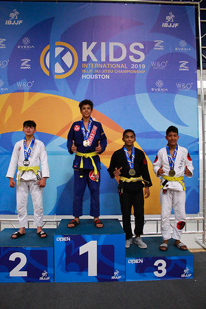 Kids Intl IBJJF Championship Podium – Houston 06-22-19