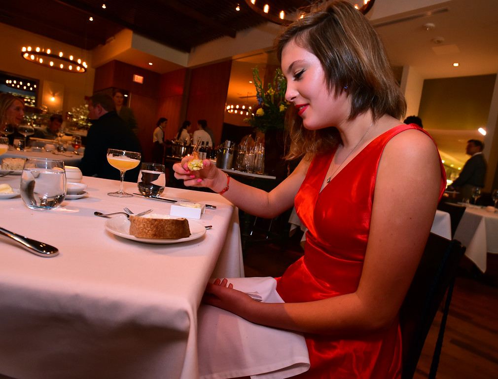. Maryn Heap gets ready to try an appetizer at Frasca Food & Wine. Maryn along with her brother Colter run a restaurant review website called Kids\' Kritics. For more photos go to dailycamera.com Paul Aiken Staff Photographer Nov 14, 2017
