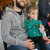 Alissa Coates Children's Music was the entertainment for the kids at Strong Style Coffee in Fitchburg on Saturday morning, Nov. 2, 2019. Aaron Sienkewicz and his daughter Cova, 2, from Fitchburg listen to the music. SENTINEL & ENTERPRISE/JOHN LOVE