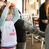 Alissa Coates Children's Music was the entertainment for the kids at Strong Style Coffee in Fitchburg on Saturday morning, Nov. 2, 2019. Lilly Clifford, 2, from Fitchburg listens to the music. SENTINEL & ENTERPRISE/JOHN LOVE