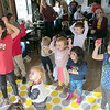 Alissa Coates Children's Music was the entertainment for the kids at Strong Style Coffee in Fitchburg on Saturday morning, Nov. 2, 2019. Many of the kids follow along as Coates sings to them. SENTINEL & ENTERPRISE/JOHN LOVE
