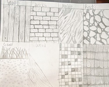 Ghazia shows us how to draw different textures!