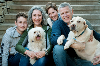 Family Portrait with Dogs in Asheville