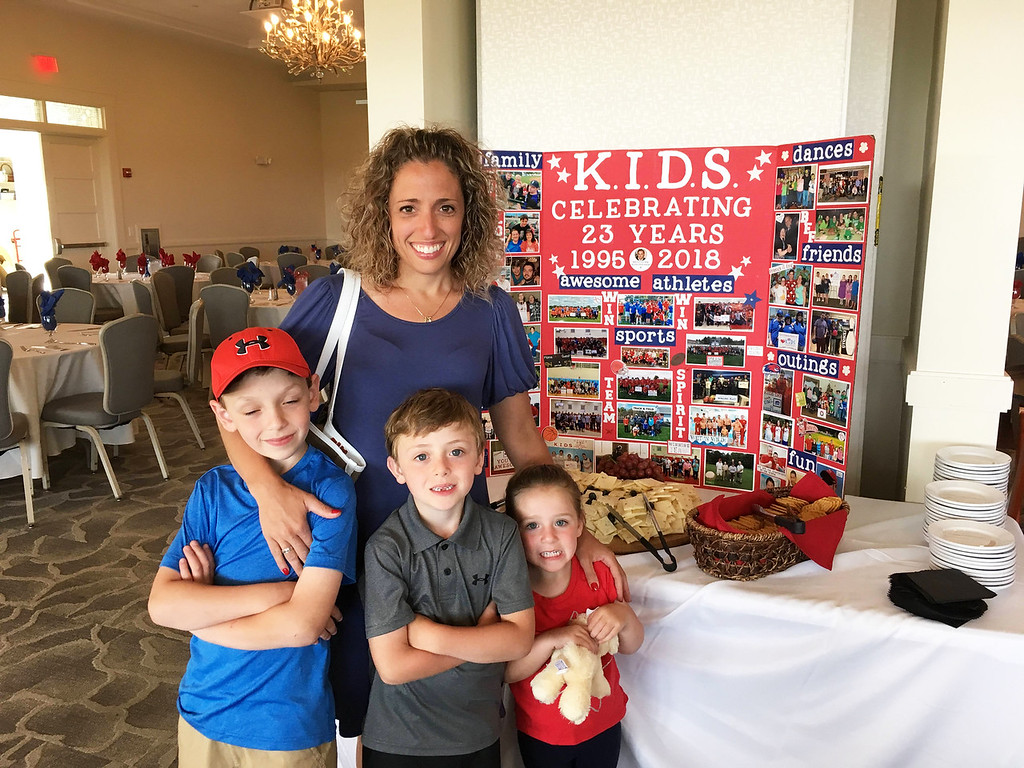 . Angela Vercontaire of Dracut with her beautiful children, Christopher, William and Liliana