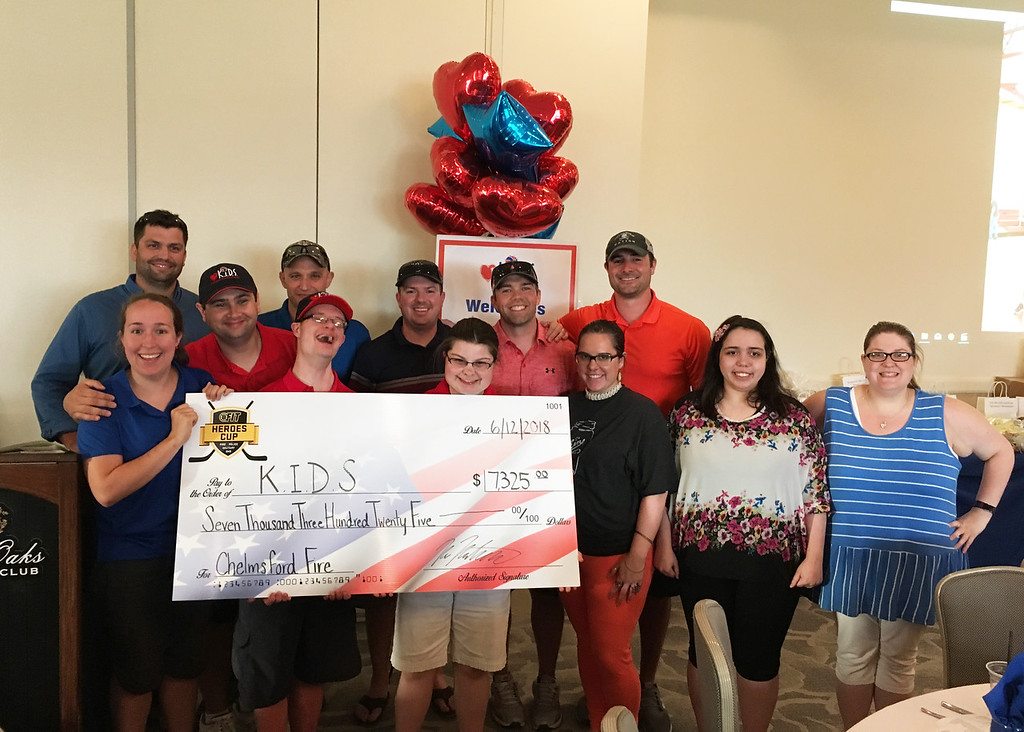 . All the sweet K.I.D.S. with their heroes, Chelmsford firefighters