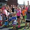 Lynnfield, Ma.9-24-17. Children and adults participating in dance party at the third annual Kid's Karma at MarketStreet Lynnfield on Sunday.