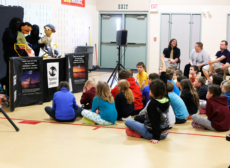 HOLLY PELCZYNSKI - BENNINGTON BANNER Kids on the Block - Vermont ( KOBVT) out of Burlington,visit students at Fisher Elementary school on Monday morning to teach them about leaning differences, anti bullying and healthy behaviors using music, dancing and puppets.