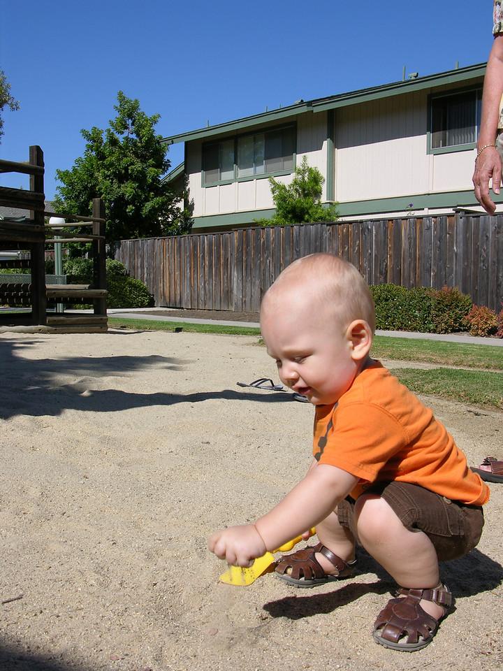 Ahh sand is fun!