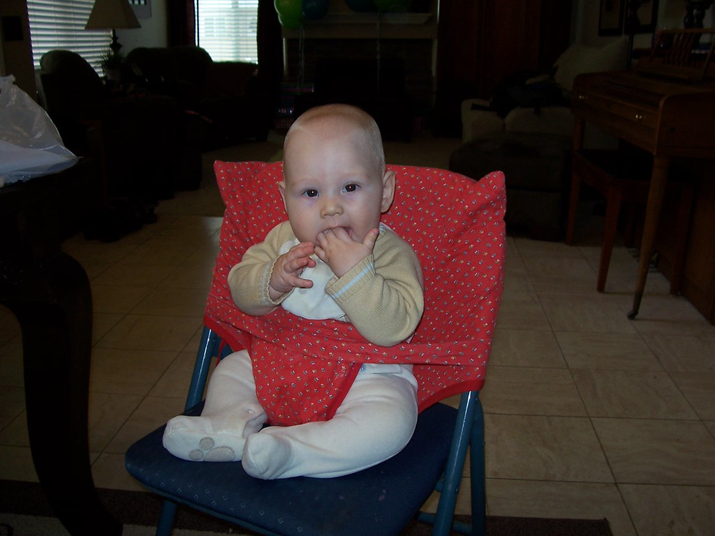 I got to sit in a big boy chair!