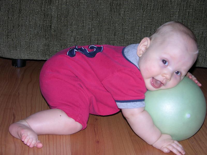 Sam loves his ball!