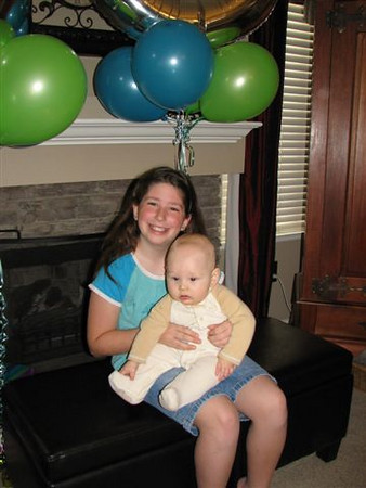 It was cousin Rachael's 10th birthday! I will be 10 in a couple months.... well 10 months old that is..